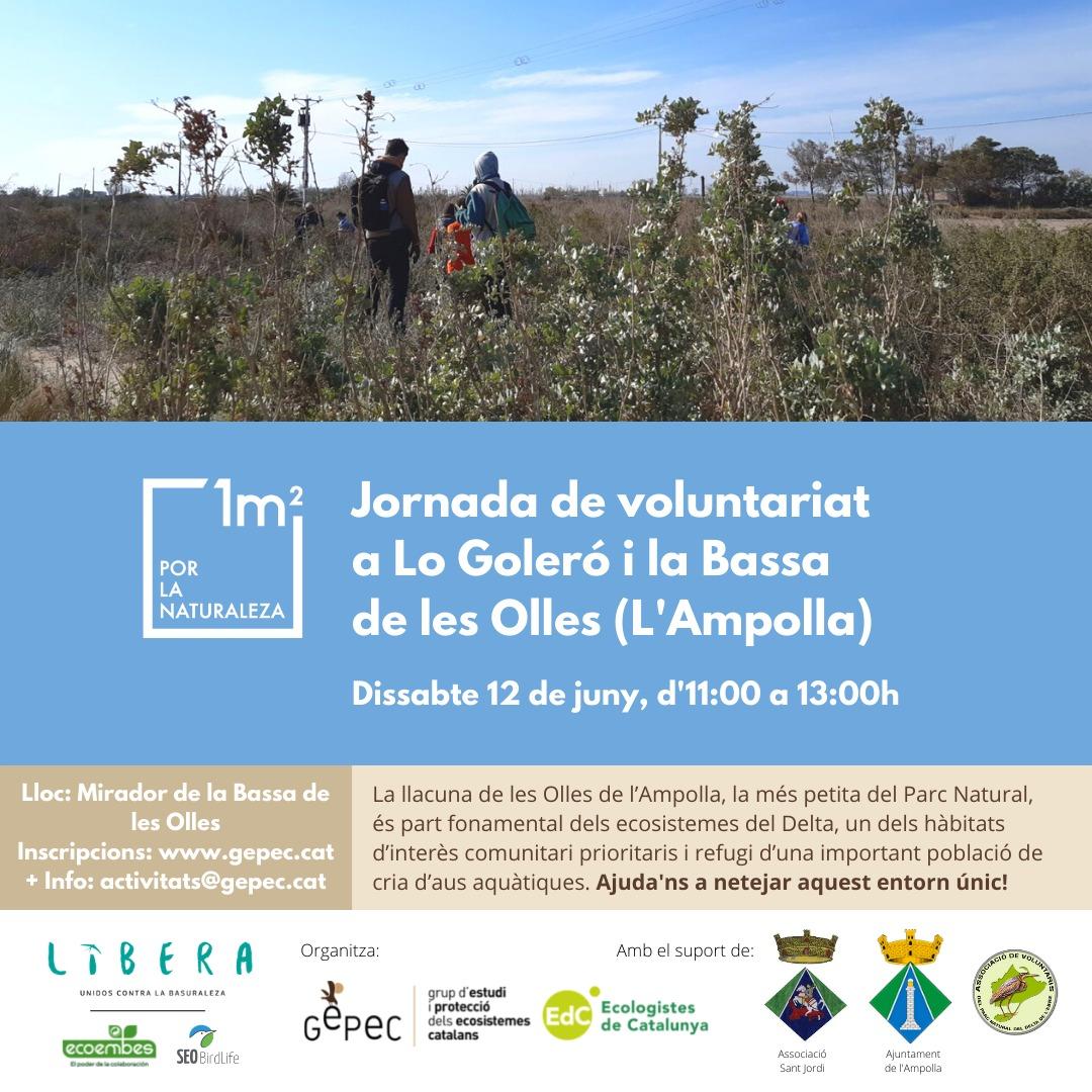Jornada de voluntariat per a netejar l'entorn del Goleró i la bassa de les Olles